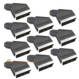 21 pin Scart Peritel Plug Connector - Pack of 10
