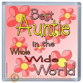 Best Auntie in the Whole Wide World Coaster