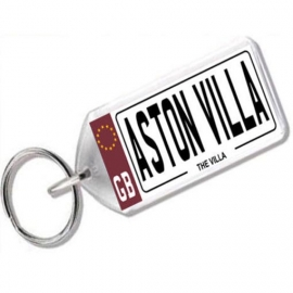 Aston Villa Novelty Number Plate Keyring