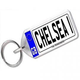 Chelsea Novelty Number Plate Keyring