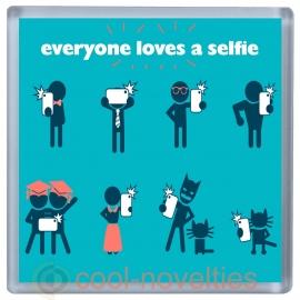 Everyone Loves a Selfie Novelty Drinks Mat Coaster