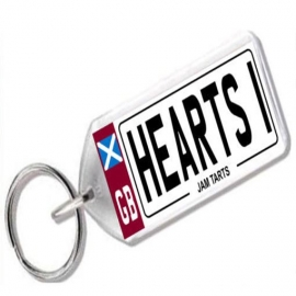Heart of Midlothian Novelty Number Plate Keyring