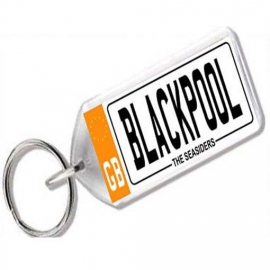 Blackpool Novelty Number Plate Keyring