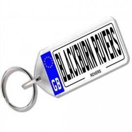 Blackburn Rovers Novelty Number Plate Keyring