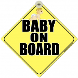 Baby On Board Novelty Car Window Sign