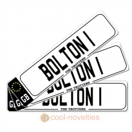 Bolton Novelty Number Plate Bookmark