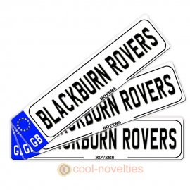 Blackburn Rovers Novelty Number Plate Bookmark