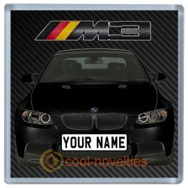 Black BMW M3 Personalised Coaster / Beer Mat