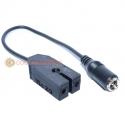 Vic 20 PSU 2 pin to 2.1mm DC Socket Adapter Cable
