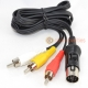 Atari ST TV Composite RCA Audio/Video Cable