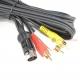 Atari ST TV Composite Gold RCA Audio/Video Cable