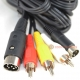ommodore C64 & C128 S-Video / CVBS RCA & Audio TV Cable