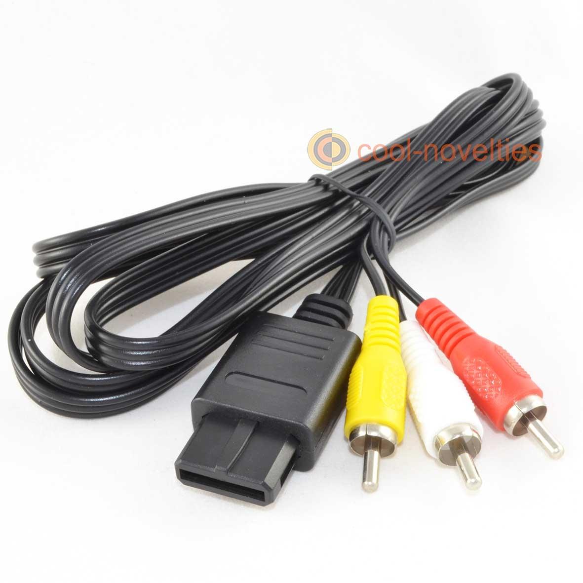 Super Nintendo SNES, Gamecube & N64 RCA A/V Cable