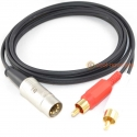 5 Pin DIN to 2 x RCA Phono Plugs Gold Interconnect Cable