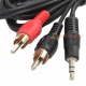 3.5mm Stereo Jack Plug to 2 x RCA Phono Lead