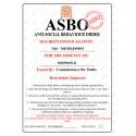 Shopaholic - Novelty ASBO Certificate