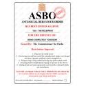 Tone Deaf - Novelty ASBO Certificate