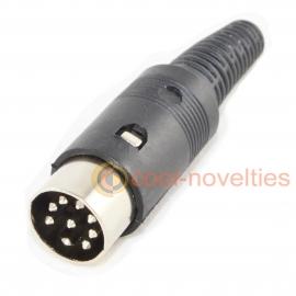 8 pin DIN 262° U Shape Male Plug Connector