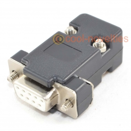 9 Way D-Sub Female Socket Connector & Black Hood