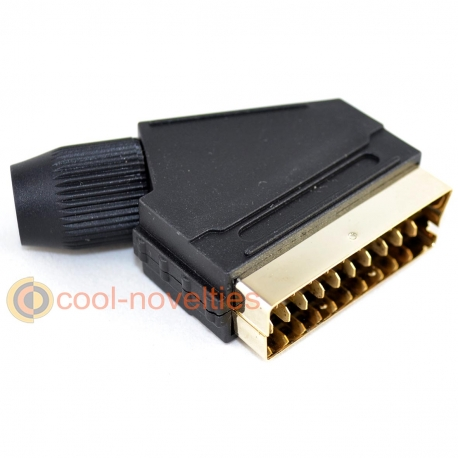 21 pin Scart Peritel Plug Connector - Gold Plated