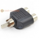 RCA Phono Plug to 2 x Phono Socket Converter