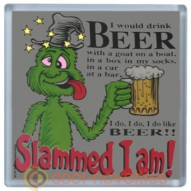 I Would Drink Beer - Slammed I am Novelty Beer Mat