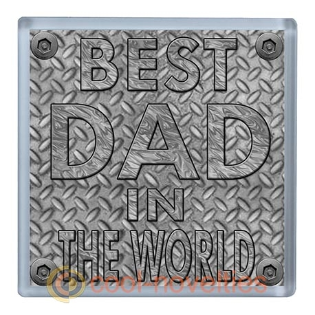 Best Dad in the World Beer Mat Coaster