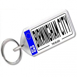 Birmingham City Novelty Number Plate Keyring
