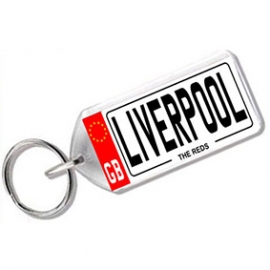 Liverpool Novelty Number Plate Keyring