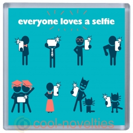 Everyone Loves a Selfie Novelty Drinks Mat Coaster