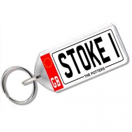 Stoke City Novelty Number Plate Keyring