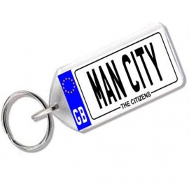 Manchester City Novelty Number Plate Keyring