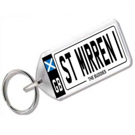 St Mirren Novelty Number Plate Keyring