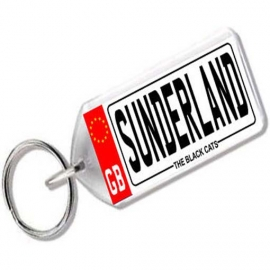 Sunderland Association Novelty Number Plate Keyring