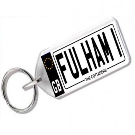 Fulham Novelty Number Plate Keyring