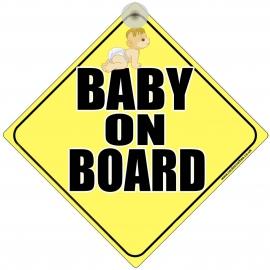 Baby On Board Novelty Car Window Sign