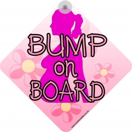 Bump on Board Modern Style Novelty Car Window Sign