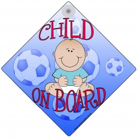 Child on Board for Boys Novelty Car Window Sign