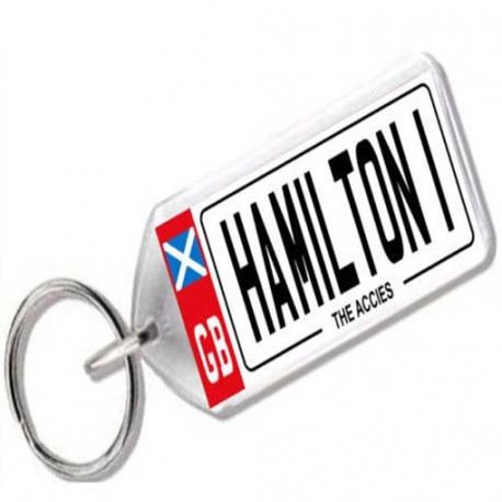 Hamilton Academical Novelty Number Plate Keyring