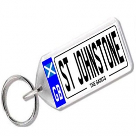 St Johnstone Novelty Number Plate Keyring