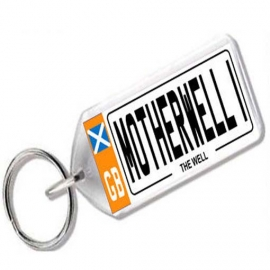 Motherwell Novelty Number Plate Keyring