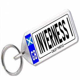 Inverness Caledonian Thistle Novelty Number Plate Keyring