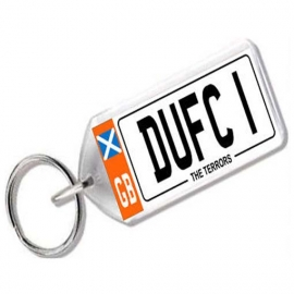 Dundee United Novelty Number Plate Keyring