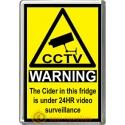Cider Novelty CCTV Warning Sign Fridge Magnet