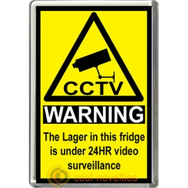Lager Novelty CCTV Warning Sign Fridge Magnet