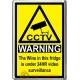Wine Novelty CCTV Warning Sign Fridge Magnet