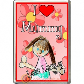 I Love Mummy Personalised from Girl Fridge Magnet