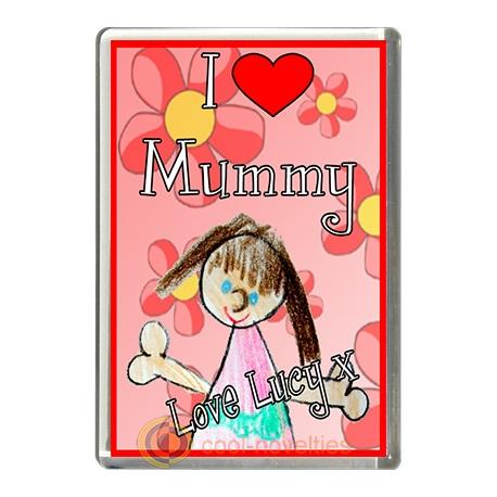 I Love Mummy Personalised from Girl Fridge Magnet