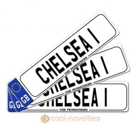 Chelsea 1 Novelty Number Plate Bookmark