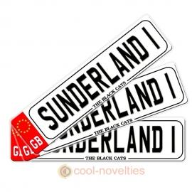 Sunderland 1 Novelty Number Plate Bookmark